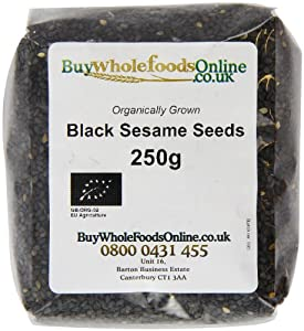 Buy Whole Foods Organic Black Sesame Seeds 250 g