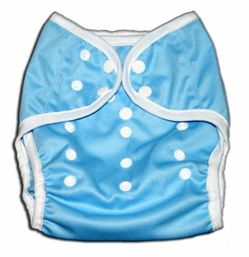 One Size Fit All- Diaper Covers for Prefolds or Regular Inserts PUL - BLUE