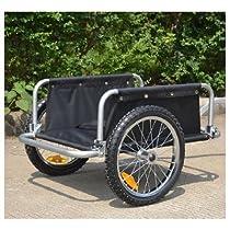 Aosom Traveler Flatbed Bicycle Bike Cargo / Luggage Trailer - Black