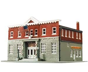 Life Like Trains Life Like Trains HO Scale Building Kits Woodlawn Police Station