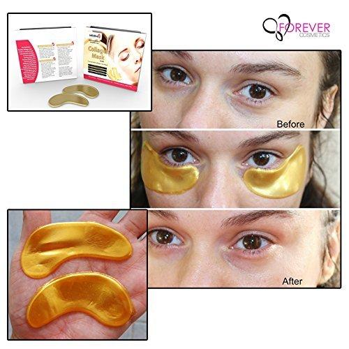 crystal collagen gold powder eye mask instructions