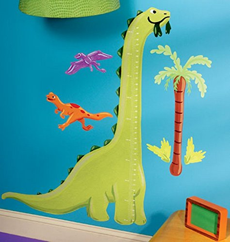 Wallies 13540 Dino Growth Chart Peel and Stick Wall Play - 1