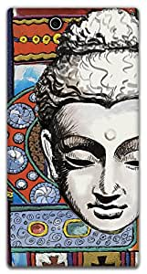 The Racoon Lean printed designer hard back mobile phone case cover for Sony Xperia Z Ultra. (Buddhist T)