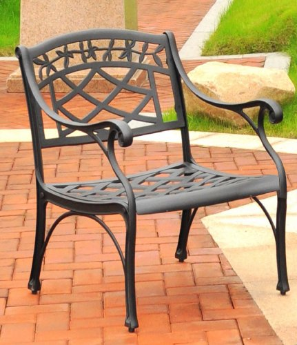 Crosley Furniture Sedona Cast Aluminum Club Chair, Charcoal Black image
