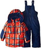 Rugged Bear Baby Boys Down Alternative Snowsuit Jacket and Snowpants Bib Set - Orange (18 Months)