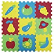 Ludi - Tapis d'Eveil - Dalles en Mousse - Basic Fruits