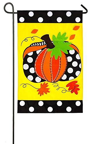 Polka Dot Pumpkin Garden Flag