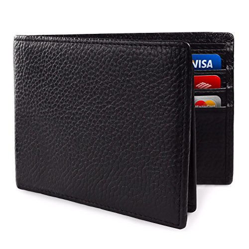 SafeCard Genuine Leather RFID Blocking Wallet (Mens Wallets Id Protection compare prices)