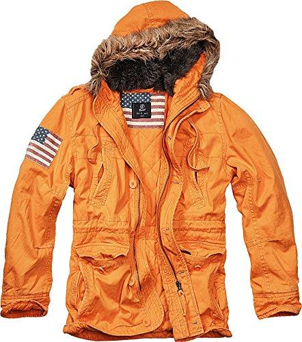 Brandit Uomo Vintage Explorer Stars & Stripes Giacca Arancione taglia L
