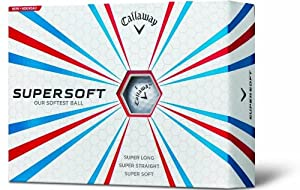 Callaway Super Soft Golf Balls, White (Pack of 12)