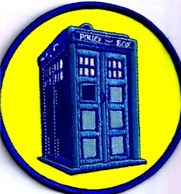 DOCTOR WHO British TV Series 4 inch Tardis PATCH - 1