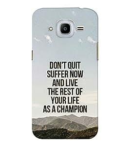 EPICCASE The Champion Mobile Back Case Cover For Samsung J2 2016 (Designer Case)