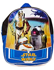 "Classic Star Wars Preschool Backpack Toddler (11"") Featuring R2 D2 And C 3 Po With Star Wars Stickers (The Force..."