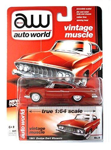 Auto World Vintage Muscle 1/64 Scale 1961 Dodge Dart Phoenix - 1