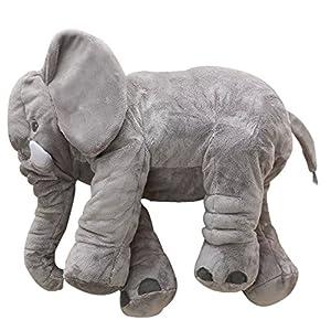 MorisMos Stuffed Elephant Plush Pillow Toy Grey 24 inch/60cm from MorisMos