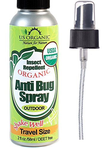 #1 Organic Insect Repellent Travel Size, USDA Certified Organic, 2 fl.oz, DEET Free, Kid Safe, No synthetic chemicals, No Alcohol, Cruelty Free, No animal tested, Made in USA, US Organic