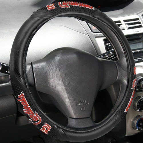 MLB St. Louis Cardinals Black Vinyl Massage Grip Steering Wheel Cover at Amazon.com