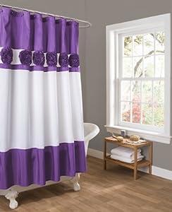 Lush+Decor Lush Decor Seascape Shower Curtain, 72 by 72-Inch, Purple