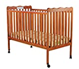 Dream On Me Classic 2 in 1 Convertible Stationary Side Crib, Pecan