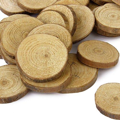 Tinksky Bois tranches tranches de bois Log 30pcs 3-4CM pour l'artisanat bricolage