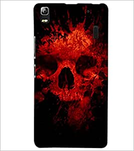 PrintDhaba Scary Skeleton D-4341 Back Case Cover for LENOVO A7000 TURBO (Multi-Coloured)