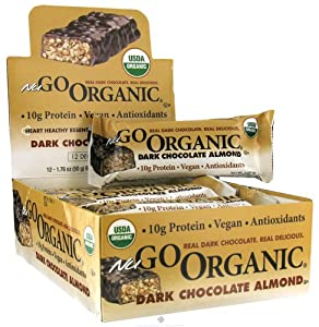 NuGo Nutrition - Organic Bar Dark Chocolate Almond - 1.76 oz.