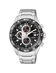 Citizen Eco-Drive Analog Black Dial Men's Watch CA0030-52E