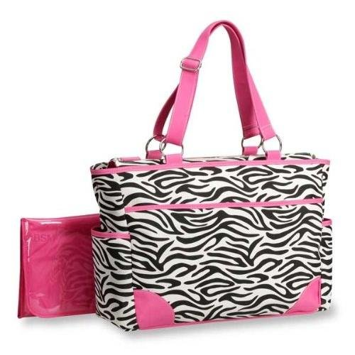 Carter's Fashion Tote Bag, Zebra Print.