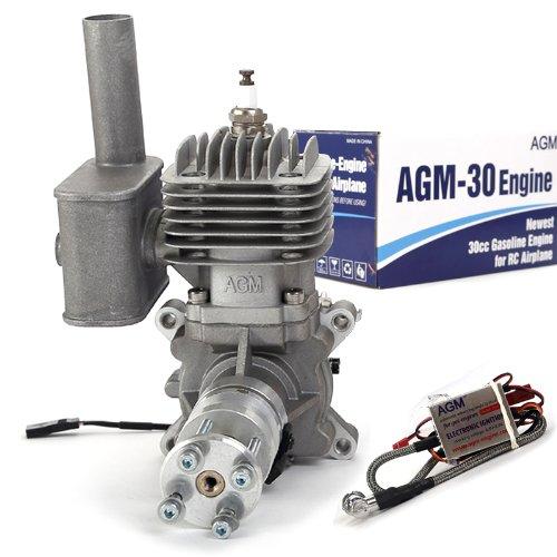 AGM-Neu-Version-AGM-30-30cc-Gasmotor-Benzinmotor-Motor-Verbrennungsmotor-Gasengine-fr-RC-Flugmodell-vs-DLE30