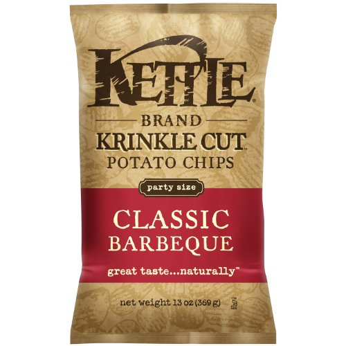 Kettle Krinkle Chips Classic BBQ, 13-Ounce (Pack of 5) (Wavy Bbq Chips compare prices)