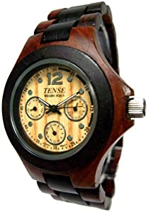 Tense Multi Eye Two-Tone Mens Northwest Wood Watch G4300SD LF from TENSE WOODEN WATCHES