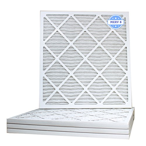19 7/8 x 21 1/2 x 1 Air Filter, Pleated, MERV 8 (Case of 4) Fits Listed Models of Carrier, Bryant & Payne