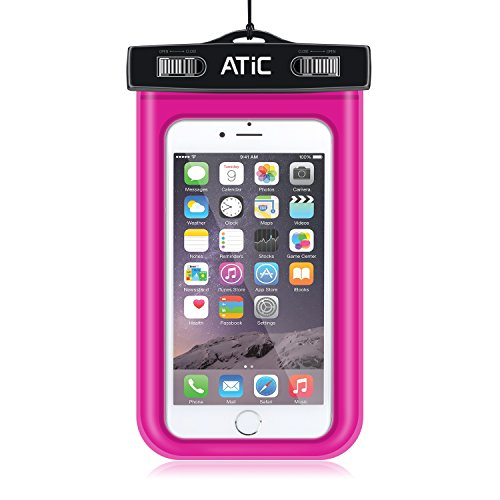 ATiC ストラップアームバンド式両用透明防水ケース - iPhone 6 / 6 Plus / 5 / 5S / 4 / 4S, Samsung Galaxy S6 / S6 Edge / S5 / S4 / S4 Active, Note 4, iPod Touch 3 / 4 / 5, HTC ONE X / ONE S Z520E / ONE M9, Windows Phone 8 ( ATT, T-Mobile, Verizon ), Motorola DROID RAZR / LG G2 / G3 / Droid Turbo, LG G Flex 2, Nexus 4 / Nexus 6, Nokia Lumia 920, 820, Sony Z1 / Z2 / Z3(5.7インチ以下の携帯)に適用ストラップアームバンド式両用防水 ケース。防水保護等級 : IPx8。MAGENAT