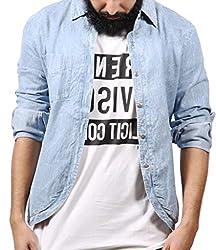 Fadjuice Men's Shirt (Fj44238S_Pastel Blue_Small)