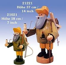 German Incense Smoker Forestworker - 18 cm  7 cm - Authentic German Erzgebirge Smokers - KWO