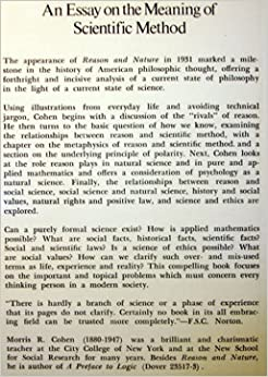 reason and nature an essay on the meaning of scientific method Dear internet archive supporter, i ask only once a year: an essay on the meaning of scientific method reason and nature an essay on the meaning of scientific.