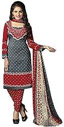 The Desi Attire Women's Crepe Unsticthed Dress Material (106_Grey_40)