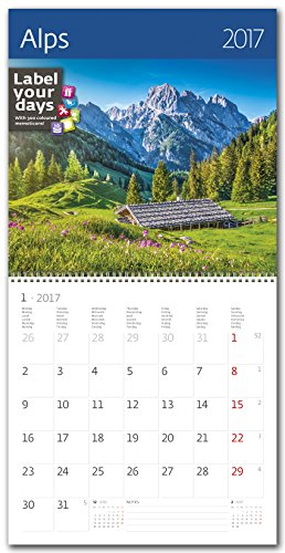 CA10-17 Kalpa Calendario da Muro 2017 Alpi calendari da parete esclusiva collezione 30 x 30