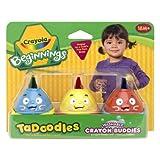 Crayola 3 Ct Washable Tadoodles Crayon Buddies ~ Crayola