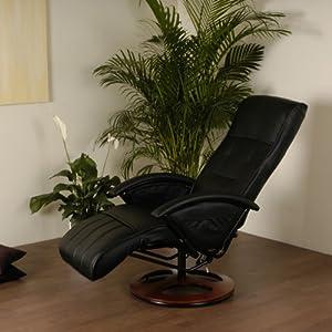 Fauteuil électrique de massage, Fauteuil de relaxation noir