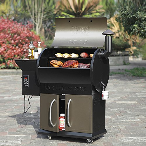 Electric Pellet Smoker Barbecue Wood Burning Grill 20LB Hopper Excluding Cover (Propane Auger Accessories compare prices)