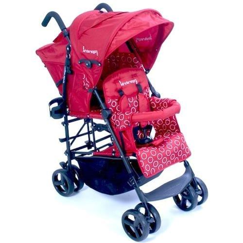 Kinderwagon Hop Tandem Umbrella Stroller Red Black