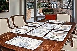Avira Home Abstract Table Mats & Table Runner Set- 6 Mats (13