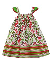 SSMITN Girls' Dress(SK2215_4-5Y, Green, 4-5Y)