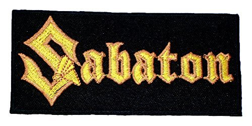 SABATON Power Metal band t Shirts MS36 Embroidered iron on Patches by MartOnNet Music Patch