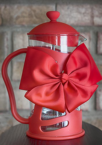 Sunlit French Press Coffee Maker, Red, 4 Cup (1 L), Brew Your Perfect Cup of Coffee or Tea