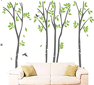 OneHouse Birch Tree Spring Tree Decal Wall Sticker Kids Decal by OneHouse