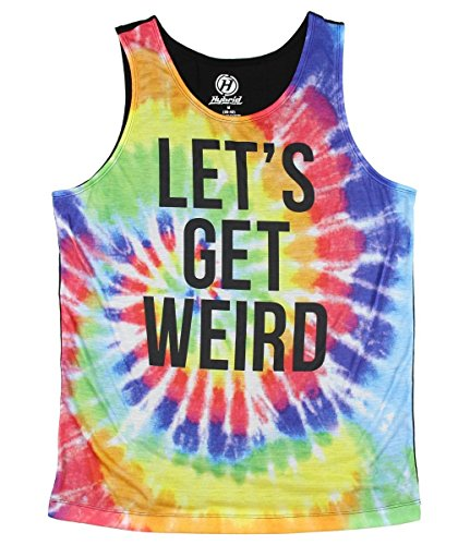 Lets Get Weird Graphic Tank Top - Large (80s Clothing For Men)