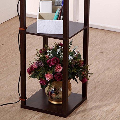Brightech maxwell shelf floor lamp modern mood for Floor lamp with shelves australia