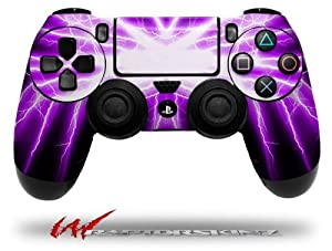 Lightning Purple - Decal Style Wrap Skin fits Sony PS4 Dualshock 4 Controller - CONTROLLER NOT INCLUDED